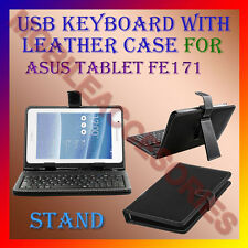 "ACM-USB KEYBOARD 7"" CASE for ASUS TABLET FE171 TABLET LEATHER COVER STAND HOLDER"