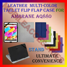 """ACM-LEATHER FLIP MULTI-COLOR 8"""" COVER CASE STAND for AMBRANE AQ880 TABLET TAB"""