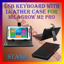 "ACM-USB KEYBOARD 7"" CASE for MILAGROW M2 PRO TABLET LEATHER COVER STAND HOLDER"