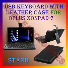 "ACM-USB KEYBOARD 7"" CASE for OPLUS XONPAD 7 TABLET LEATHER COVER STAND HOLDER"