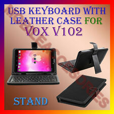 "ACM-USB KEYBOARD 7"" CASE for  VOX V102 TABLET LEATHER COVER STAND HOLDER PREMIUM"
