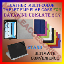 "ACM-LEATHER FLIP MULTI-COLOR 7"" COVER CASE STAND for DATAWIND UBISLATE 3G7 TAB"