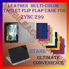 "ACM-LEATHER FLIP MULTI-COLOR 7"" COVER CASE STAND for ZYNC Z99 TABLET TAB HOLDER"