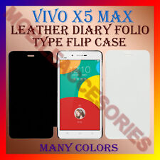 ACM-LEATHER DIARY FOLIO FLIP FLAP CASE for VIVO X5 MAX MOBILE FRONT & BACK COVER