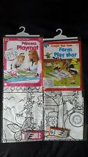KIDS COLOUR YOUR OWN PLAYMAT,Princess or Farm,Creative play fun for Girls & Boys