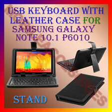 "ACM-USB KEYBOARD 10"" CASE for SAMSUNG NOTE 10.1 P6010 LEATHER COVER STAND TAB"
