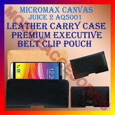 ACM-BELT CASE for MICROMAX CANVAS JUICE 2 AQ5001 MOBILE LEATHER POUCH COVER CLIP