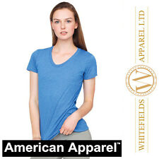 American Apparel Womens Poly/cotton short sleeve T-shirt 10 colours AA056