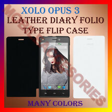 ACM-LEATHER DIARY FOLIO FLIP FLAP CASE for XOLO OPUS 3 MOBILE FRONT & BACK COVER