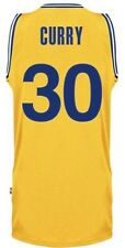 VINTAGE CANOTTA/JERSEY COLLEZIONE-BASKET NBA-GOLDEN STATE WARRIORS-CURRY-GIALLA