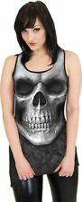 Spiral Direct SOLEMN SKULL Goth Bottom Lace Vest Dress/Goth/Metal/Rock/Top/Tee