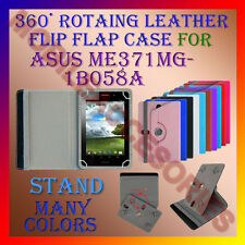 "ACM-ROTATING 360° LEATHER FLIP STAND COVER 7"" CASE for ASUS ME371MG-1B058A TAB"