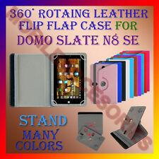 "ACM-ROTATING 360° LEATHER FLIP STAND COVER 7"" CASE for DOMO SLATE N8 SE TABLET"