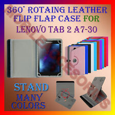 """ACM-ROTATING 360° LEATHER FLIP STAND COVER 7"""" CASE for LENOVO TAB 2 A7-30 TABLET"""