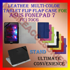 "ACM-LEATHER FLIP MULTI-COLOR 7"" COVER CASE STAND for ASUS FONEPAD 7 FE170CG TAB"