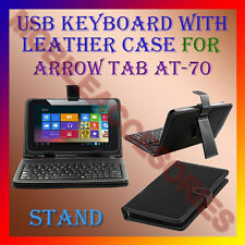 """ACM-USB KEYBOARD 7"""" CASE for ARROW TAB AT-70 TABLET LEATHER COVER STAND HOLDER"""