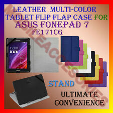 "ACM-LEATHER FLIP MULTI-COLOR 7"" COVER CASE STAND for ASUS FONEPAD 7 FE171CG TAB"
