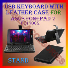 """ACM-USB KEYBOARD 7"""" CASE for ASUS FONEPAD 7 FE170CG TABLET LEATHER COVER STAND"""