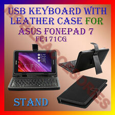 "ACM-USB KEYBOARD 7"" CASE for ASUS FONEPAD 7 FE171CG TABLET LEATHER COVER STAND"