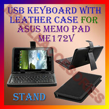 "ACM-USB KEYBOARD 7"" CASE for ASUS MEMO PAD ME172V TAB LEATHER COVER STAND HOLDER"