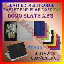 "ACM-LEATHER FLIP MULTI-COLOR 7"" COVER CASE STAND for DOMO SLATE X2G TABLET FLAP"