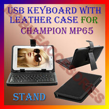 "ACM-USB KEYBOARD 7"" CASE for CHAMPION MP65 TABLET LEATHER COVER STAND HOLDER NEW"