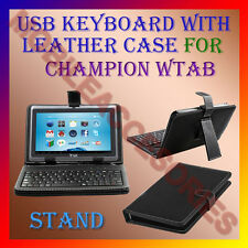 "ACM-USB KEYBOARD 7"" CASE for CHAMPION WTAB TABLET LEATHER COVER STAND HOLDER NEW"