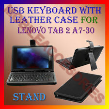 "ACM-USB KEYBOARD 7"" CASE for LENOVO TAB 2 A7-30 TABLET LEATHER COVER STAND FLAP"