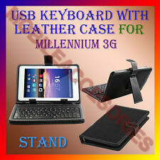 "ACM-USB KEYBOARD 7"" CASE for MILLENNIUM 3G TABLET LEATHER COVER STAND HOLDER NEW"