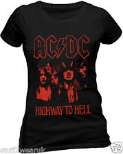 OFFICIAL AC DC Highway To Hell T Shirt Album Cover Ladies Skinny Angus Rock