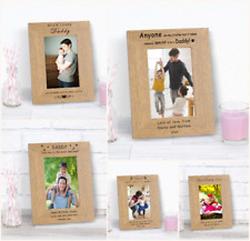 Personalised Dad Father Daddy Photo Frame Love Best Father's Day 6x4 7x5