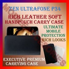 ACM-RICH LEATHER SOFT CASE for ZEN ULTRAFONE P34 MOBILE HANDPOUCH COVER HOLDER