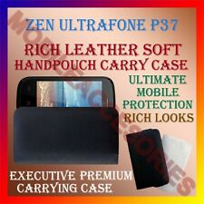 ACM-RICH LEATHER SOFT CASE for ZEN ULTRAFONE P37 MOBILE HANDPOUCH COVER HOLDER