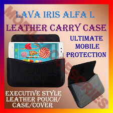 ACM-HORIZONTAL LEATHER CARRY CASE for LAVA IRIS ALFA L MOBILE POUCH COVER NEW