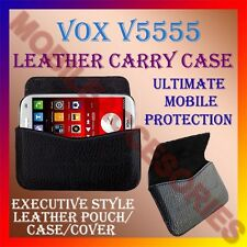 ACM-HORIZONTAL LEATHER CARRY CASE for VOX V5555 MOBILE COVER POUCH HOLDER LATEST
