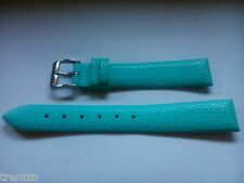 CORREA RELOJ 14,16 MM PIEL AZUL CELESTE HEBILLA ACERO WATCH LEATHER NEW STRAP
