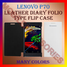 ACM-LEATHER DIARY FOLIO FLIP CASE COVER for LENOVO P70 MOBILE FRONT & BACK FLAP