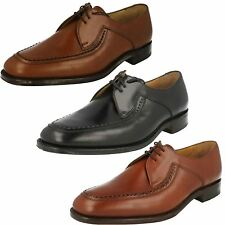 Mens Loake Formal Leather Stitch Detail Lace Up Shoes - Fontwell