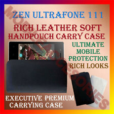 ACM-RICH LEATHER SOFT CASE for ZEN ULTRAFONE 111 MOBILE HANDPOUCH COVER HOLDER