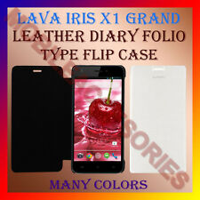 ACM-LEATHER DIARY FOLIO FLIP FLAP CASE for LAVA IRIS X1 GRAND MOBILE FLIP COVER