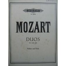 MOZART W. A. Duos KV 423 424 Alto Violon   Partition Sheet Music Spartiti Partit