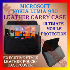 ACM-HORIZONTAL LEATHER CARRY CASE for MICROSOFT NOKIA LUMIA 930 COVER POUCH CASE