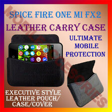ACM-HORIZONTAL LEATHER CARRY CASE for SPICE FIRE ONE MI FX2 MOBILE COVER POUCH