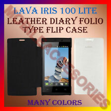 ACM-LEATHER DIARY FOLIO FLIP FLAP CASE for LAVA IRIS 100 LITE MOBILE FULL COVER