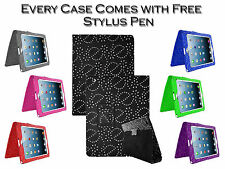 Diamond Bling Sparkly Smart Stand Leather Pu Case Cover For Apple iPad 2 3 4 UK