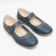 Boulevard Ladies Comfy Fuller Fit Extra Wide EEE Leather Velcro Mary Jane Shoes