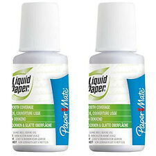 2x 20ml PaperMate Correction Fluid Bottle - Fast Dry & Smooth Coverage