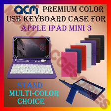 "ACM-USB COLOR KEYBOARD 8"" CASE for APPLE IPAD MINI 3 TABLET LEATHER COVER STAND"