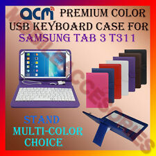 "ACM-USB COLOR KEYBOARD 8"" CASE for SAMSUNG GALAXY TAB 3 T311 LEATHER COVER STAND"