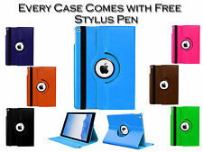 360° Rotating Smart Stand Leather Pu Case Cover Pouch For Apple iPad 2 3 4 UK